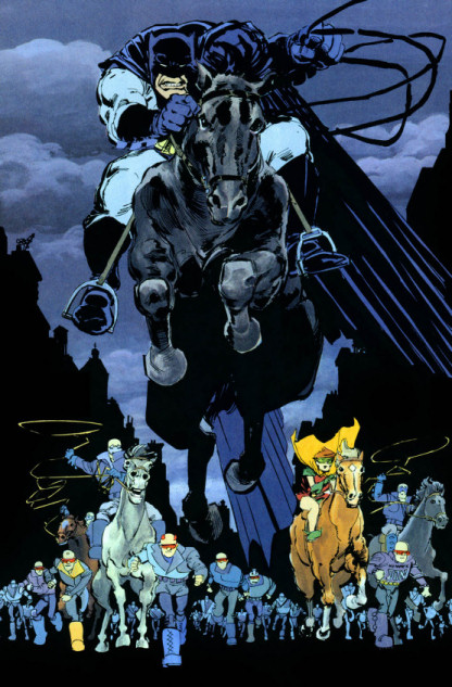 Batman on a horse