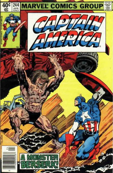 Cover to Captain America #244 by Frank Miller