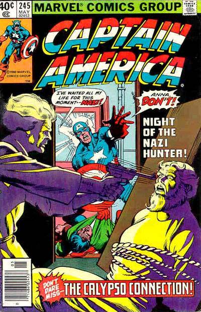 Cover to Captain America #245 by Frank Miller