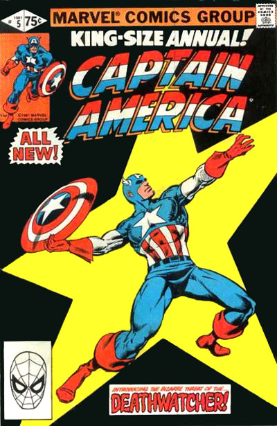 Cover to Captain America Annual #5 by Frank Miller