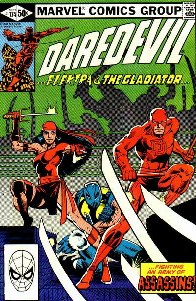 Cover to Daredevil #174 by Frank Miller