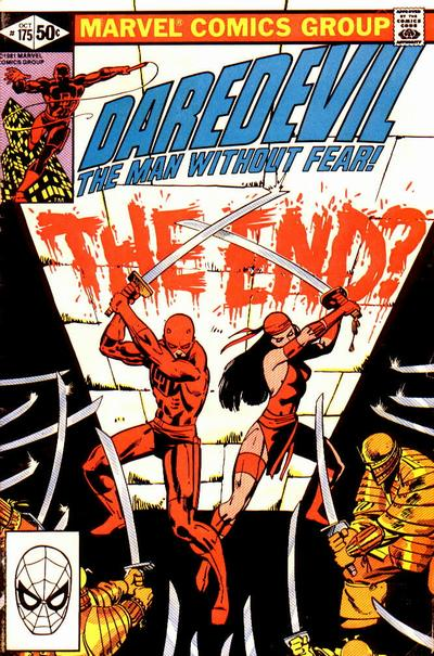 Cover to Daredevil #175 by Frank Miller