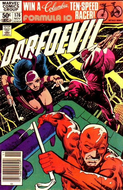 Cover to Daredevil #176 by Frank Miller