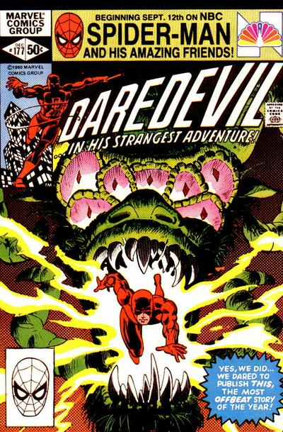 Cover to Daredevil #177 by Frank Miller