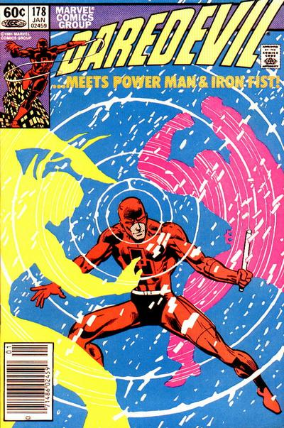 Cover to Daredevil #178 by Frank Miller