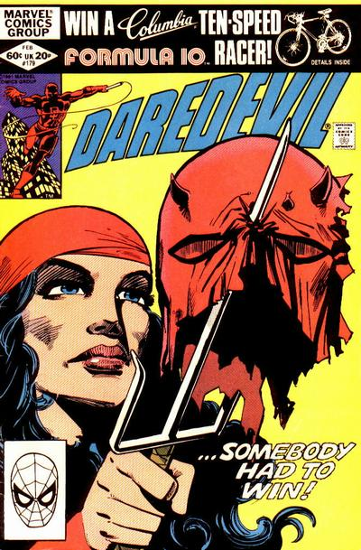 Cover to Daredevil #179 by Frank Miller
