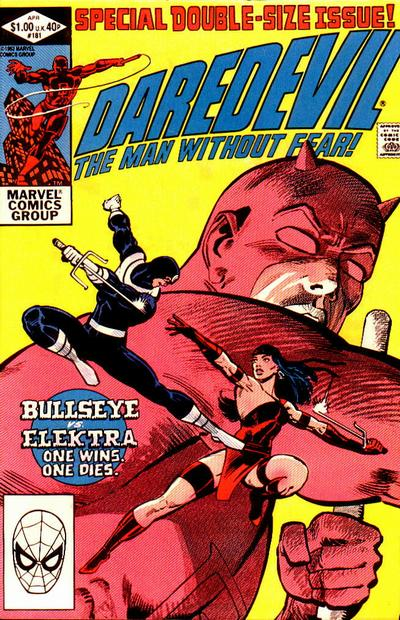 Cover to Daredevil #181 by Frank Miller