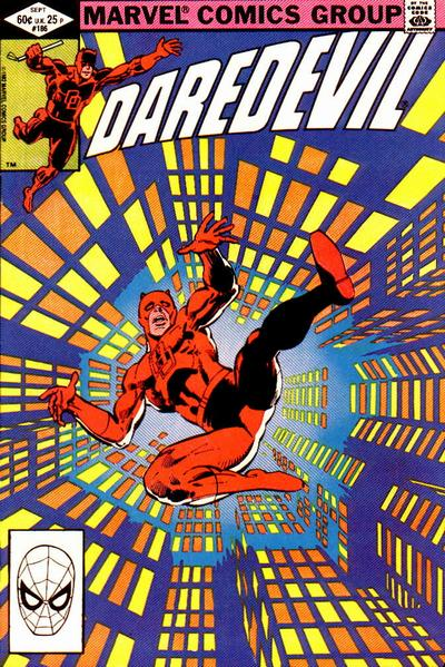 Cover to Daredevil #186 by Frank Miller