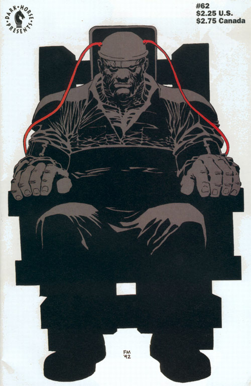 Cover to Dark Horse Presents #62 by Frank Miller