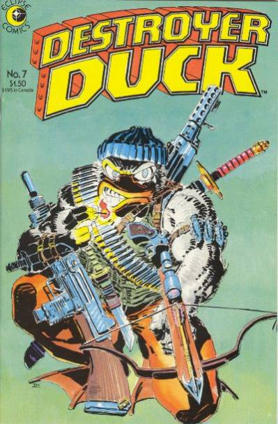 Cover to Destroyer Duck #7 by Frank Miller