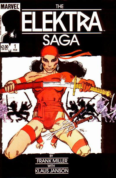Cover to Elektra Sage #1 by Frank Miller