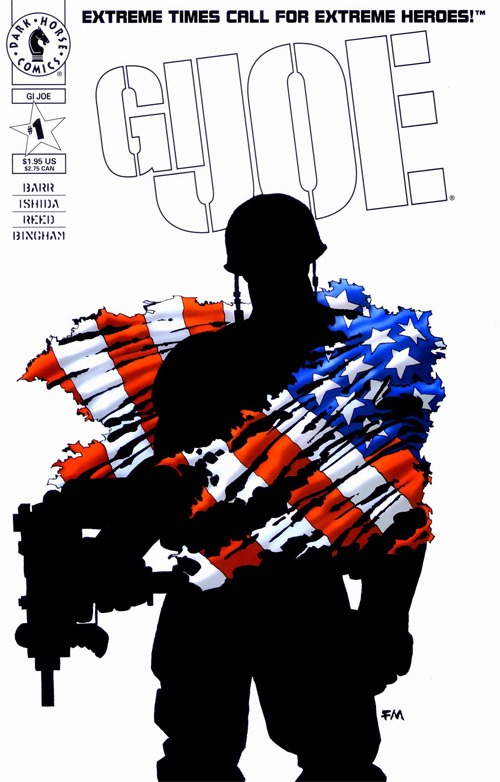 Cover to Dark Horse Comics GI JOE #1 by Frank Miller