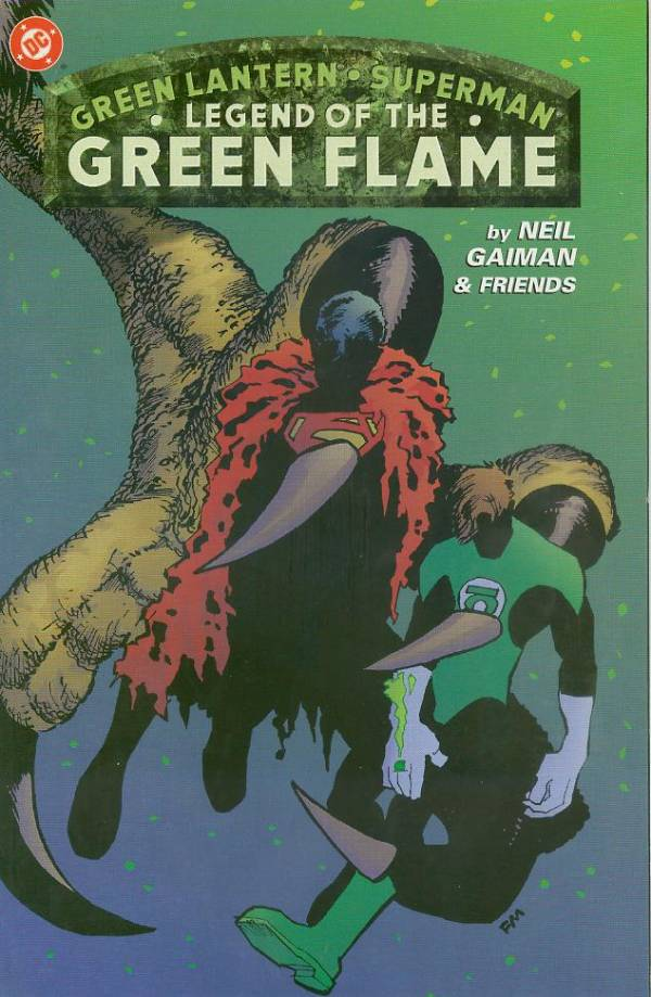 Cover to Green Lantern Superman Legend of the Green Flame by Frank Miller