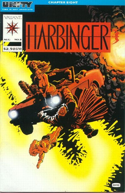 Cover to Harbringer #8 by Frank Miller