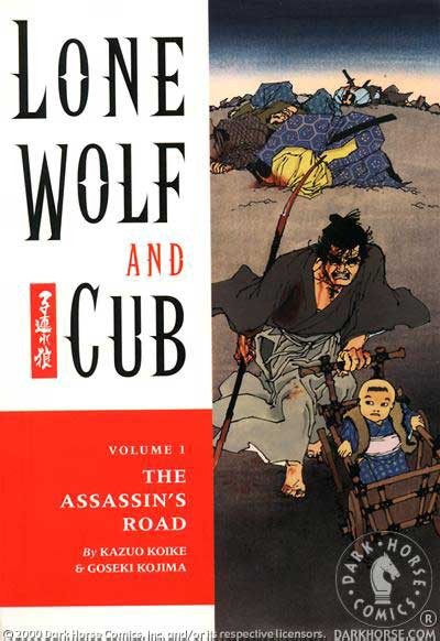 Cover to Lone Wolf and Cub #1 Dark Horse Comics version by Frank Miller