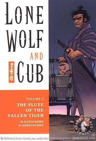Cover to Lone Wolf and Cub #3 Dark Horse Comics version by Frank Miller