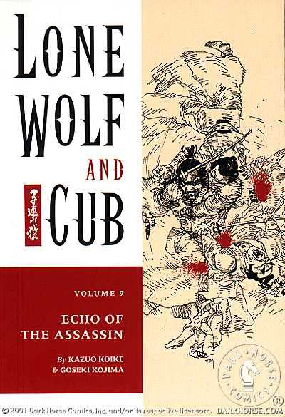Cover to Lone Wolf and Cub #9 Dark Horse Comics version by Frank Miller