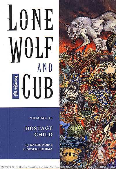 Cover to Lone Wolf and Cub #10 Dark Horse Comics version by Frank Miller