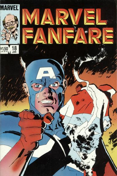 Cover to Marvel Fanfare #18 by Frank Miller