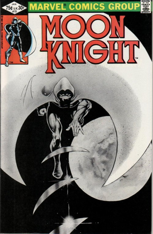 Cover to Moon Knight #15 by Frank Miller