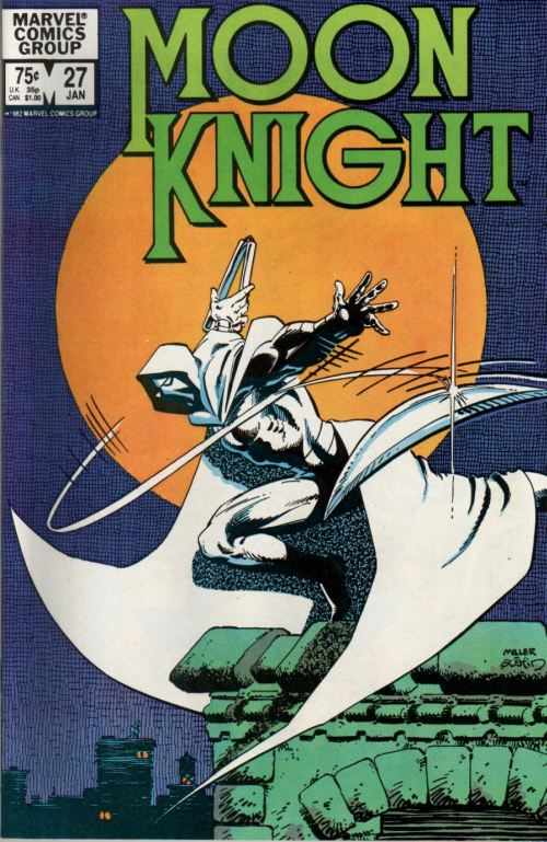 Cover to Moon Knight #27 by Frank Miller