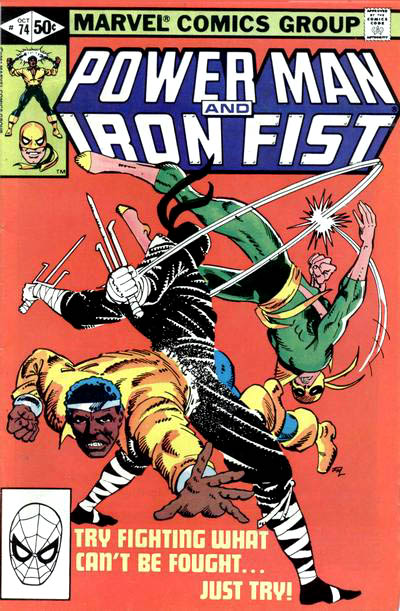 Cover to Power Man and Iron Fist #74 by Frank Miller