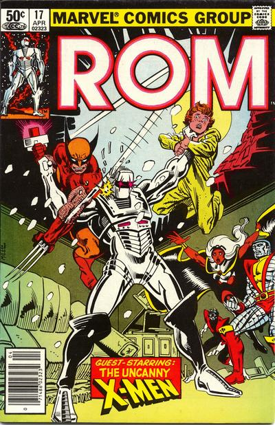 Cover to ROM #17 by Frank Miller