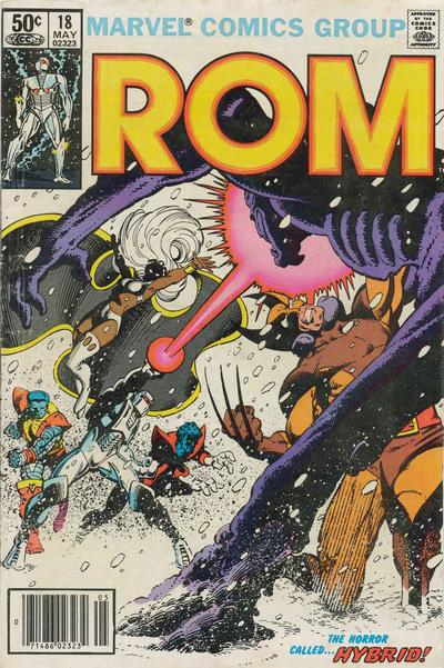Cover to ROM #18 by Frank Miller
