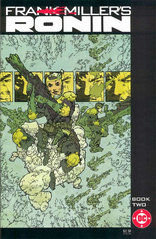 Cover to Frank Miller's Ronin Book Two by Frank Miller