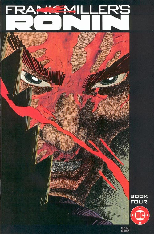 Cover to Frank Miller's Ronin Book Four by Frank Miller