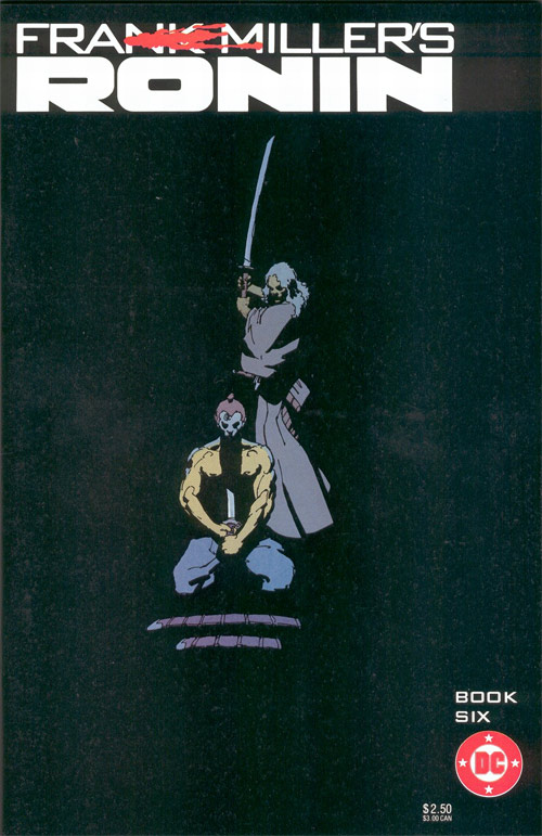 Cover to Frank Miller's Ronin Book Six by Frank Miller