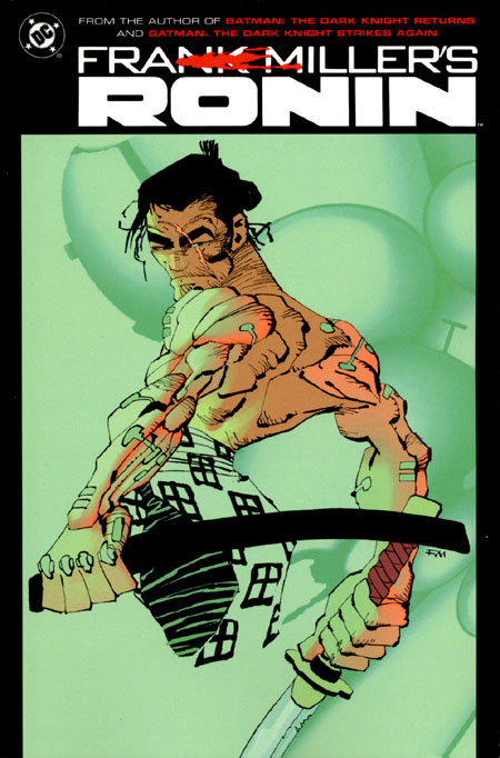 New Cover to Ronin TPB by Frank Miller