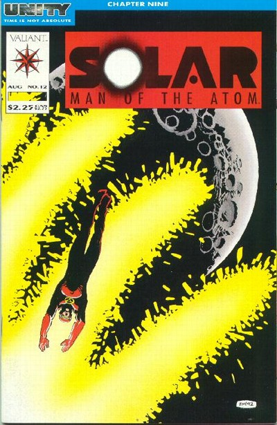 Cover to Solar Man of Atom #12 by Frank Miller