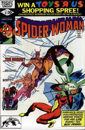Cover to Spider-Woman #31 by Frank Miller