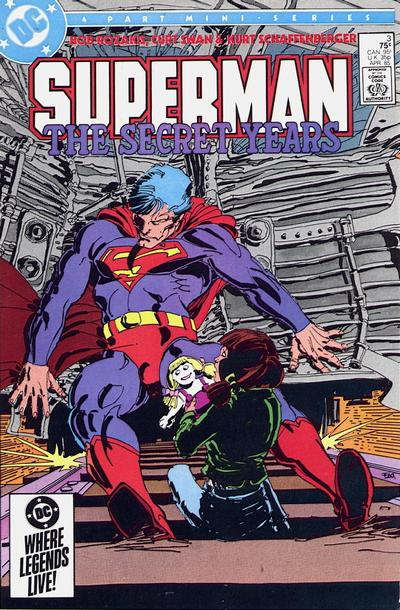 Cover to Superman The Secret Years #3 by Frank Miller