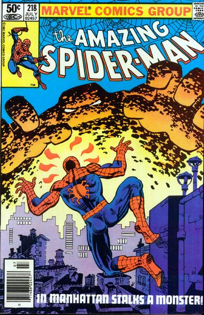 Cover to The Amazing Spider-Man #218 by Frank Miller