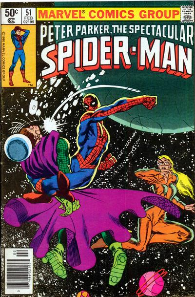 Cover to The Spectacular Spider-Man #51 by Frank Miller