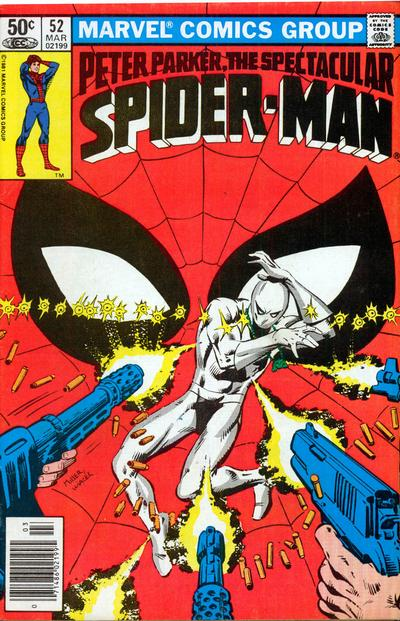Cover to The Spectacular Spider-Man #52 by Frank Miller