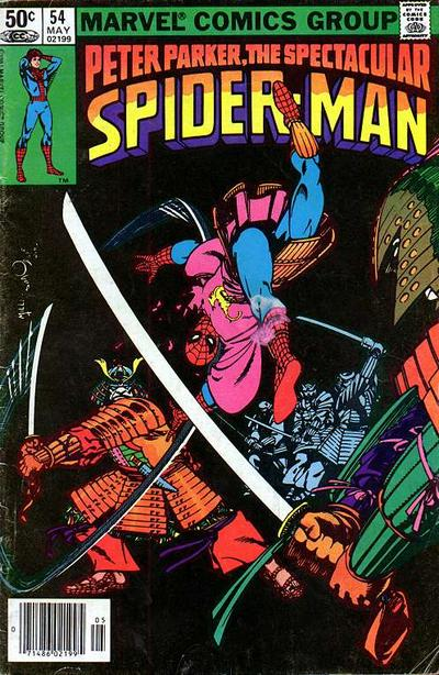 Cover to The Spectacular Spider-Man #54 by Frank Miller