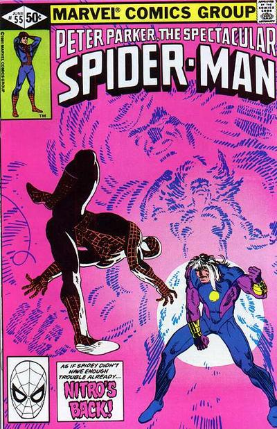 Cover to The Spectacular Spider-Man #55 by Frank Miller