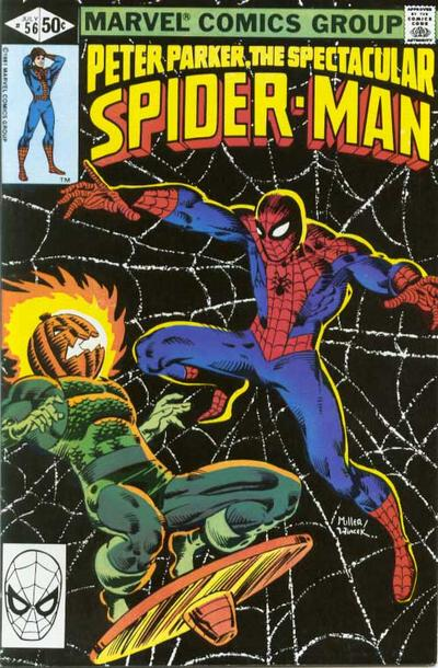 Cover to The Spectacular Spider-Man #56 by Frank Miller