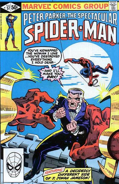Cover to The Spectacular Spider-Man #57 by Frank Miller