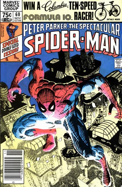 Cover to The Spectacular Spider-Man #60 by Frank Miller