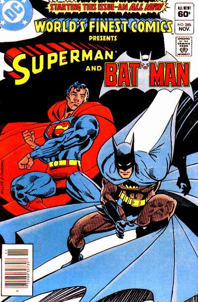 Cover to World's Finest Comics #285 by Frank Miller