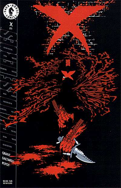 Cover to X #21 by Frank Miller